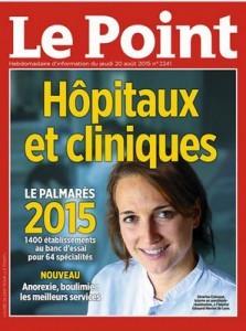 Classement Le Point 2015 Chirurgie du Pied Polyclinique de l'Atlantique Premier centre des Pays de la Loire Dr Cyril PERRIER